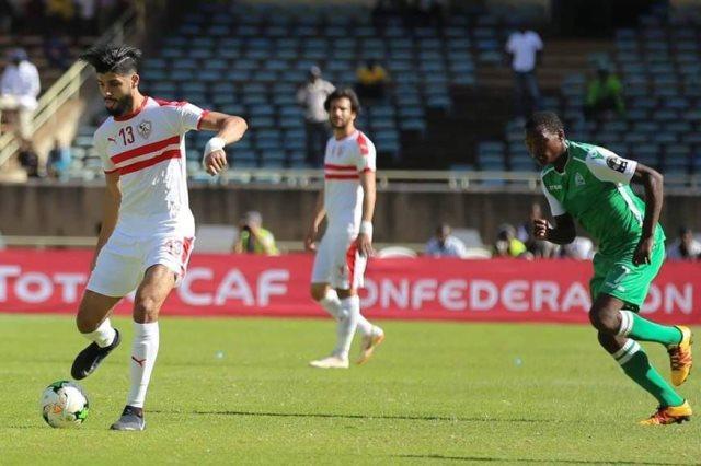 ملخص مباراة الزمالك ونصر حسين داي بالكونفدرالية فيديو