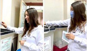 المطربة جنات تفاجيء المصريين بعد مشاركتها اليوم في الانتخابات البرلمانية
